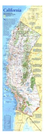 1993 California Map by National Geographic Maps