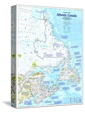 1993 Making of Canada, Atlantic Canada Map by National Geographic Maps