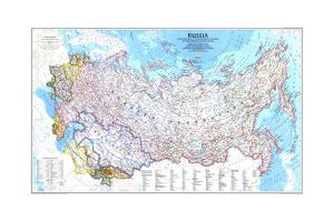 1993 Russia and the Newly Independent Nations of the Former Soviet Union by National Geographic Maps