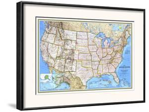Affordable National Geographic Maps Poster Frames For Sale At - United states map picture frame