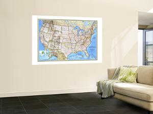 1993 United States Map by National Geographic Maps