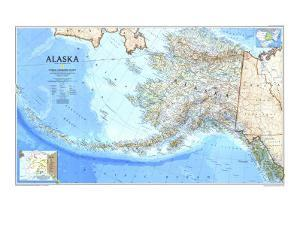 1994 Alaska Map by National Geographic Maps
