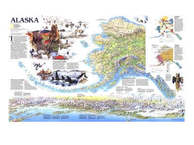 Maps Of Alaska Posters At AllPosterscom - Alaskan map