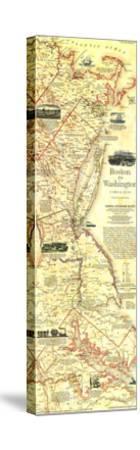 1994 Boston To Washington Circa 1830 Map by National Geographic Maps