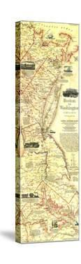 1994 Boston To Washington Circa 1830 Map by National Geographic Maps