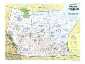 Maps of north america natl geo posters for sale at allposters 1994 making of canada prairie provinces map by national geographic maps gumiabroncs Choice Image