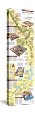 1995 Egypts Nile Valley South Map by National Geographic Maps