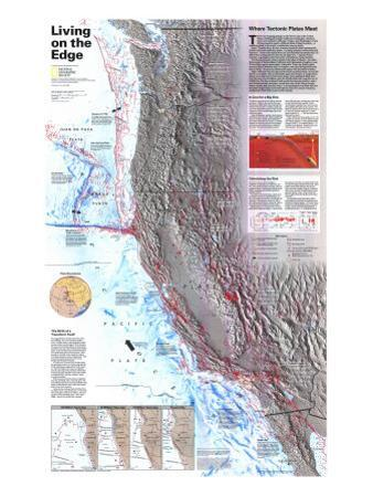1995 Living on the Edge Map by National Geographic Maps