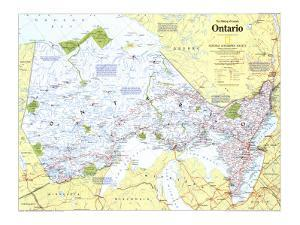 1996 Making of Canada, Ontario Map by National Geographic Maps