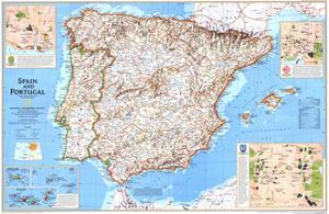 1998 Spain and Portugal by National Geographic Maps