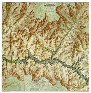1999 Heart of the Grand Canyon Map by National Geographic Maps