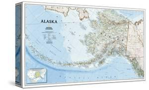 2002 Alaska Map by National Geographic Maps