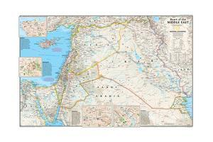 2002 Heart of the Middle East by National Geographic Maps
