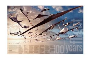 2003 100 Years of Flight Theme by National Geographic Maps