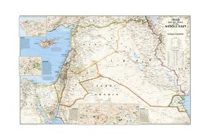 2003 Iraq and the Heart of the Middle East Map by National Geographic Maps