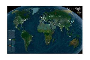 2004 Earth at Night by National Geographic Maps