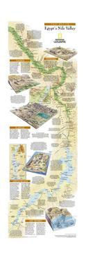 2005 Egypts Nile Valley South Map by National Geographic Maps