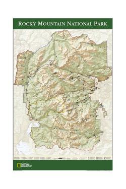 2005 Rocky Mountain National Park Map by National Geographic Maps