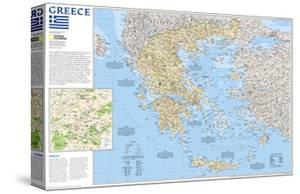 2006 Greece Map by National Geographic Maps