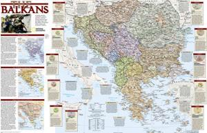 2008 Balkans Conflict Map by National Geographic Maps