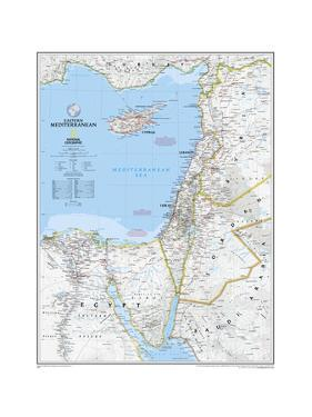 2008 Eastern Mediterranean Map by National Geographic Maps