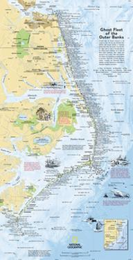 2008 Ghost Fleet of the Outer Banks 1970 Map by National Geographic Maps