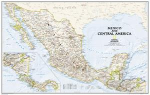 2008 Mexico and Central America Map by National Geographic Maps
