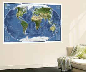 Affordable map wall murals posters for sale at allposters 2011 world explorer satellite map by national geographic maps gumiabroncs Image collections