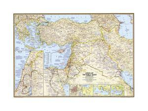 2012 Lands of the Bible 1967 Map by National Geographic Maps