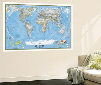 2012 World French Map by National Geographic Maps