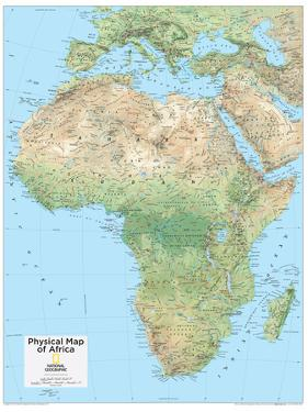 2014 Africa Physical - National Geographic Atlas of the World, 10th Edition by National Geographic Maps