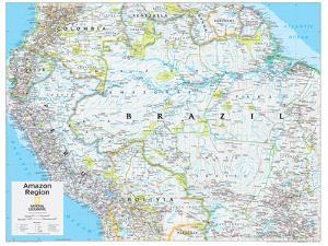 Maps of south america natl geo posters for sale at allposters 2014 amazon region national geographic atlas of the world 10th editionnational geographic maps gumiabroncs Gallery