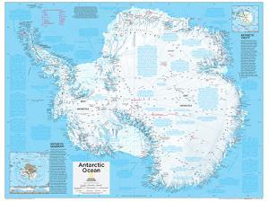 2014 Antarctica Political - National Geographic Atlas of the World, 10th Edition by National Geographic Maps