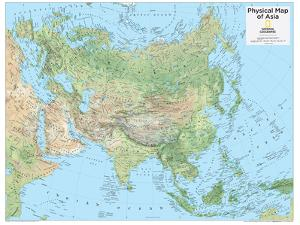 2014 Asia Physical - National Geographic Atlas of the World, 10th Edition by National Geographic Maps