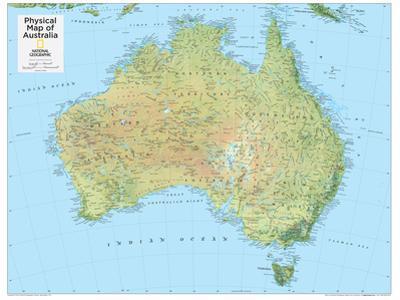 2014 Australia Physical - National Geographic Atlas of the World, 10th Edition by National Geographic Maps