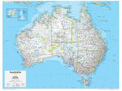 2014 Australia Political - National Geographic Atlas of the World, 10th Edition by National Geographic Maps