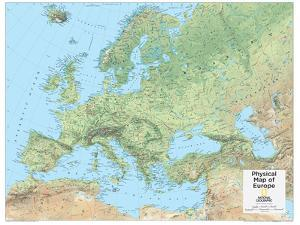 2014 Europe Physical - National Geographic Atlas of the World, 10th Edition by National Geographic Maps