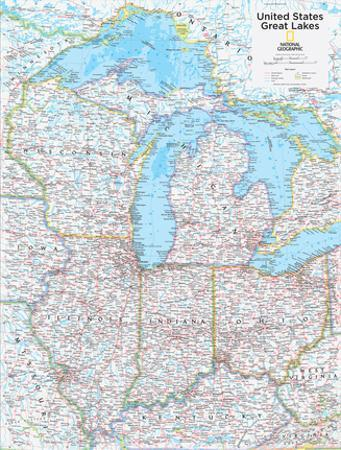 2014 Great Lakes US - National Geographic Atlas of the World, 10th Edition by National Geographic Maps