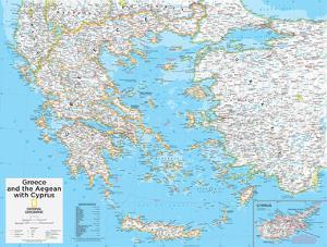 Maps of greece posters for sale at allposters 2014 greece national geographic atlas of the world 10th edition by national geographic maps gumiabroncs Image collections