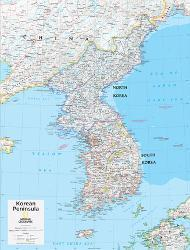 Affordable Maps of Korea Posters for sale at AllPosters.com