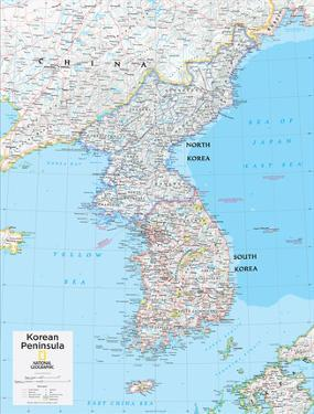 2014 Korean Peninsula - National Geographic Atlas of the World, 10th Edition by National Geographic Maps
