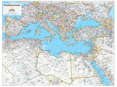 2014 Mediterranean Region - National Geographic Atlas of the World, 10th Edition by National Geographic Maps