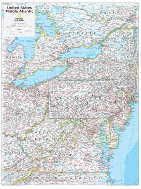 2014 Middle Atlantic US - National Geographic Atlas of the World, 10th Edition by National Geographic Maps