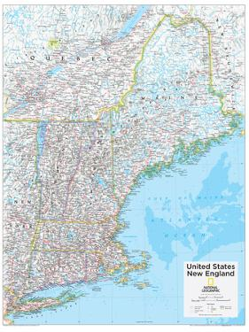 2014 New England US - National Geographic Atlas of the World, 10th Edition by National Geographic Maps