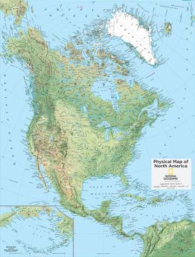 2014 North America Physical - National Geographic Atlas of the World, 10th Edition by National Geographic Maps