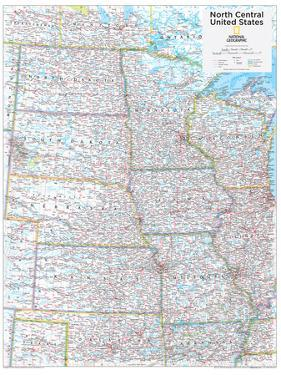 2014 North Central US - National Geographic Atlas of the World, 10th Edition by National Geographic Maps