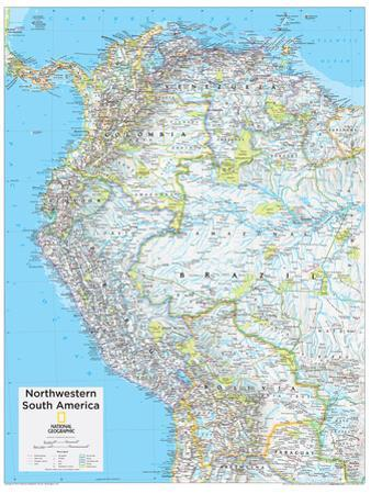 2014 Northwestern South America - National Geographic Atlas of the World, 10th Edition by National Geographic Maps