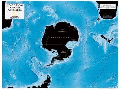 2014 Ocean Floor Antarctica - National Geographic Atlas of the World, 10th Edition by National Geographic Maps