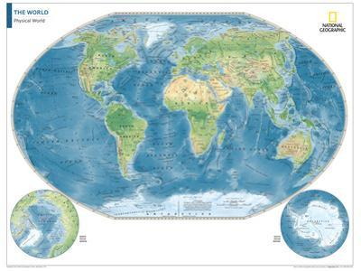 2014 Physical World Map - National Geographic Atlas of the World, 10th Edition by National Geographic Maps