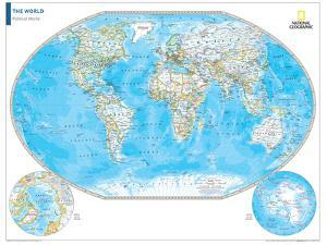 National geographic world map world map posters wall maps of the national geographic world map national geographic maps posters at allposters com gumiabroncs Image collections